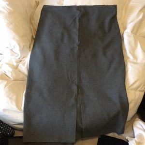 Heather Grey Pencil Skirt